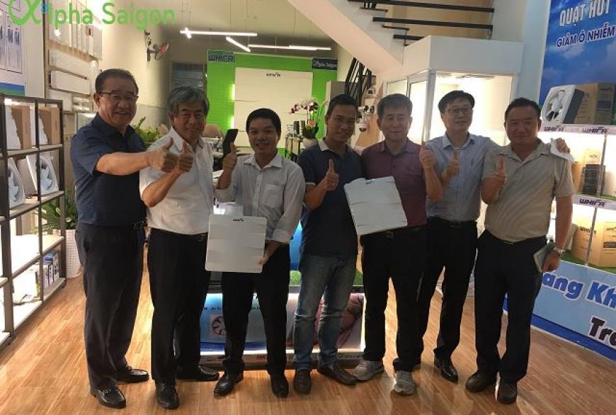 Lãnh đạo Tập đoàn TaeHwa thăm và làm việc tại Showroom Alpha Sài Gòn